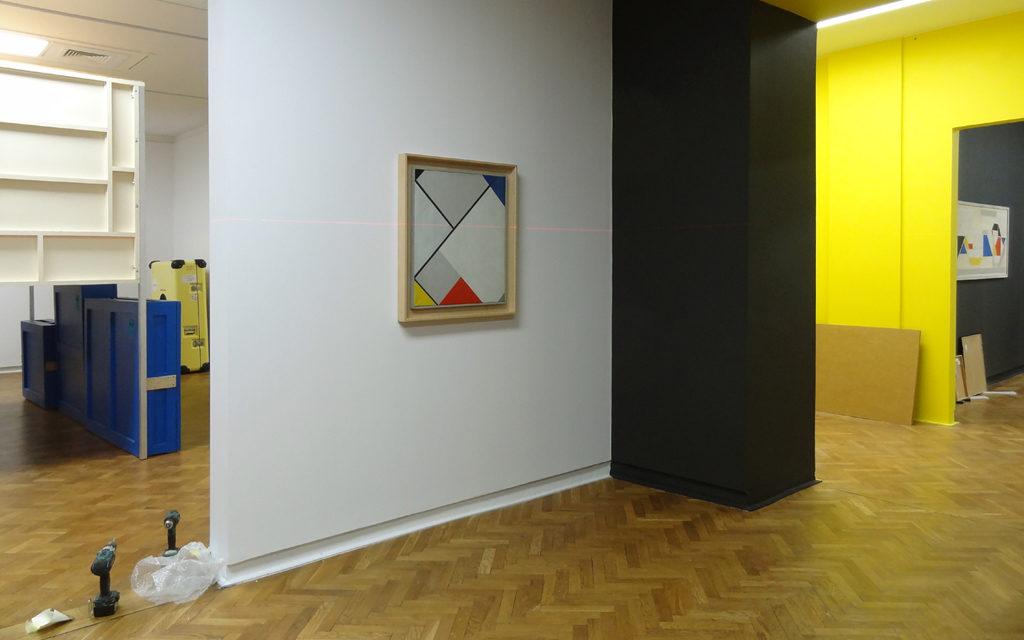 opbouw tentoonstelling