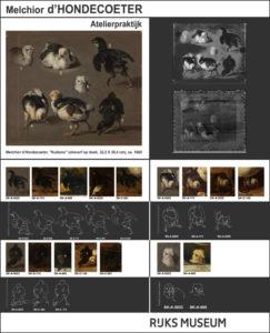 Onderzoek atelierpraktijk van Melchior d'Hondecoeter